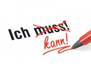 Stift- & Schriftserie: Ich muss nicht, ich kann! rot