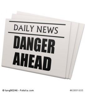 Newspaper danger ahead